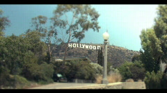 Hollywood Sign with whip zoom in - stock footage