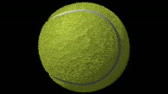 Tennis Ball Loop-5 Sec Y Rotate-1080p Stock Footage