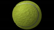 Stock Video Footage of Tennis Ball Loop-5 Sec Y Rotate-1080p