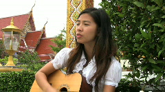 Asian Girl Singing Worship Songs - stock footage
