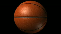 Basketball Loop-5 Sec Y Rotate-1080p Stock Footage