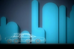 Abstract city and traffic animation Stock Footage