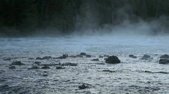 River rapids and mist P HD 2537 Stock Footage