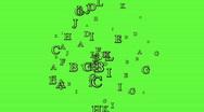 Stock Video Footage of loopable random letters