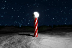 Santa Claus Circling Village NTSC Stock Footage