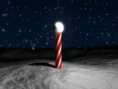 Santa Claus Circling Village NTSC Stock Footage