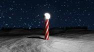 Santa Claus Circling Village HD1080 Stock Footage
