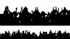 Cheering Crowd Silhouettes 1 Stock Footage
