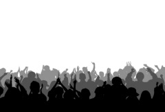 Cheering Crowd Silhouettes 2 Stock Footage
