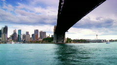 Sydney Harbour Panned Time Lapse - Boats, Ferries, Bridge, Opera House Stock Footage