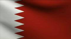 Bahrain Flag Stock Footage