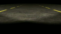 1080p loopable 3d empty highway animation / Travel night with Car  Stock Footage