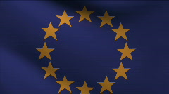 European Union Flag - stock footage