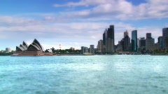 Sydney Harbour Panned Time Lapse- Swing Tilt Effect Stock Footage