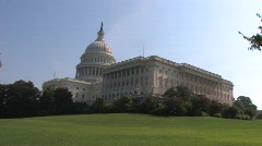 Capitol Hill in Washington D.C. Stock Footage