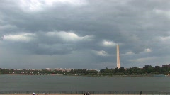 Obelisk of Washington Memorial in Washington D.C. - stock footage