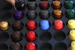 Gourmet coffee pods Stock Footage