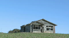 Old farmhouse viewed front on Stock Footage