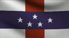 Netherlands Antilles Flag Stock Footage