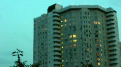 Building during different times of day Stock Footage
