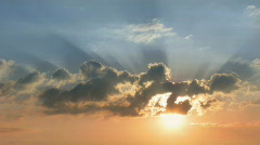 Sunrise, sky, clouds. Stock Footage