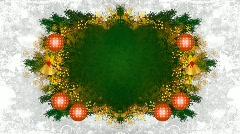 christmas frame loop 02 - stock footage