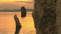 Sunrise at Mono Lake Stock Footage