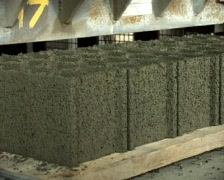 Cinder block factory Stock Footage