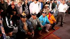 Ankle bone shooting during Naadam, UB, Mongolia - stock footage