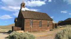 Ghost Town Church Stock Footage