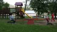 Stock Video Footage of Children in the park playing