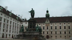 Statue in Vienna Stock Footage