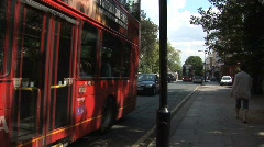 Red London buses Stock Footage