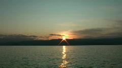 Sunrise on Baikal lake  Stock Footage