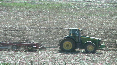 Tractor cultivating 3 Stock Footage