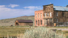 Ghost Town Hotel in Bodie, California - stock footage