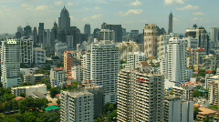 Bangkok skyscrapers time lapse - stock footage