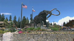 Mammoth Statue Stock Footage