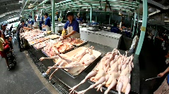 Meat market, China Stock Footage