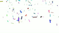 Confetti With Alpha - stock footage