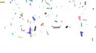 Stock Video Footage of Confetti With Alpha