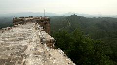 Great wall at Simatai, China Stock Footage