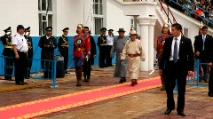 President of Mongolia at openning ceremony of the 2009 Naadam Festival Stock Footage