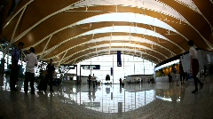 Pudong airport terminal Shanghai Stock Footage