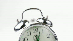 Close-up of an alarm clock going off footage Stock Footage