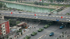 Rehearsal of military parade in Beijing Stock Footage