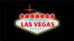 LasVegas sign at night - stock footage
