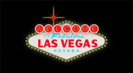 Stock Video Footage of LasVegas sign at night