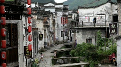 Children playing in the small village Xiao Likeng, China Stock Footage