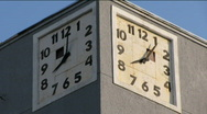 ClocksOnTheBuilding time lapse Stock Footage